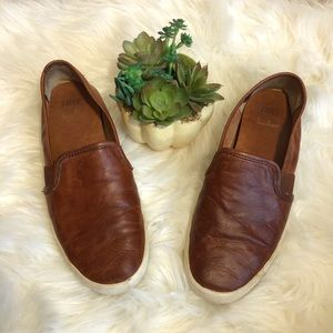 Frye | Dylan Slip-On Brown Leather Shoes Sz 7